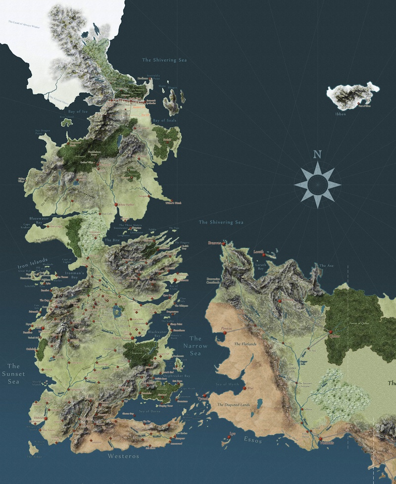 Got Karte.Game Of Thrones Interaktive Karte Größte Karte Und Noch Eine Für